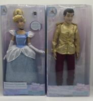 Disney Store Cinderella Classic Doll W/Ring & Prince Charmin Classic Doll NEW