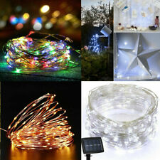 Waterproof Solar Powered Fairy Light String Lamp Copper Wire Lighting Decor