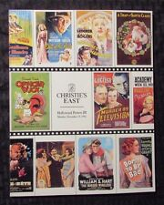 1992 Christie's East Hollywood MOVIE POSTERS III Auction Catalog SC NM