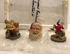 Set Of 3 Norman Rockwell's Celebration Of Santa Christmas Ornaments 26