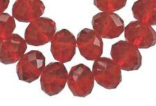 75 rouge perles de cristal à facettes verre Abacus 8 mm