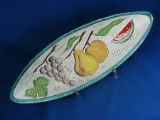 Beautiful glazed 50´s-60´s design Italian pottery fruit bowl  Keramik Obstchale