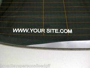 "personalised cut vinyl lettering decal 12"" long"