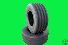 Two 18x8.50-8 V61 5-Rib 4 Ply John Deere Lawn Mower Garden Tractor Tires V7571