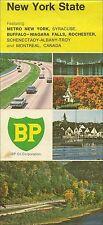 1972 BP OIL Road Map NEW YORK Albany Rochester Syracuse Buffalo Long Island