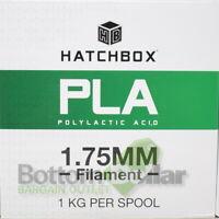 HATCHBOX 3D PLA-1KG1.75-BLK PLA 3D 1 Kg Spool Printer Filament 1.75MM True Black