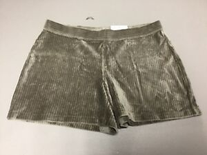 NWT Women's Hue Wide Wale Corduroy Shorts Size Medium Taupe #899P