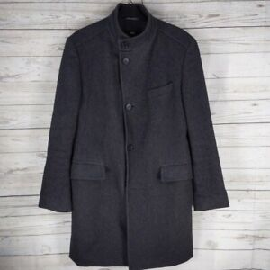 Hugo Boss Sintrax Full Length Grey Coat Men's Jacket overcoat Size 50 - Large