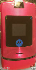 "MOTOROLA RAZR V3i-MOBILE IN RED-FULLY UNLOCKED EXCEPT ""3"" UK SELLER"