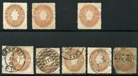 GERMANY STATES SAXONY SCOTT# 19 MICHEL# 18a 2 HINGED 1 NO GUM 4 USED AS SHOWN