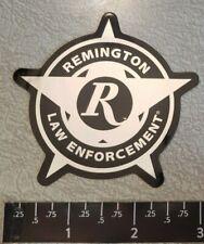 Remington Law Enforcement Chrome/Black Vinyl Sticker Decal Gun Firearms
