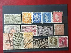 Belgium - mixed years  - 15 stamps  - Used