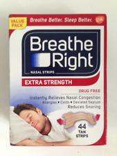 BREATHE RIGHT EXTRA 44 TAN NASAL STRIPS STOP SNORING SLEEP