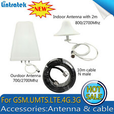 Indoor/Outdoor Antenna 800/2700Mhz 10M Cable for GSM UMTS 3G 4G Signal Repeater