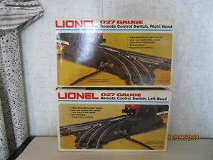 Lionel 2, 5121, 5122, Remote Control Right/Left Hand Switches 027, Mint in OB.