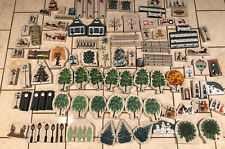 Lot of 99 Cat's Meow Village Accessories - trees, people, fencing, flowers etc.