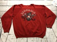 Men's Vintage 90's Hanes Alabama Crimson Tide Red Crewneck Sweatshirt Sz XL Flaw