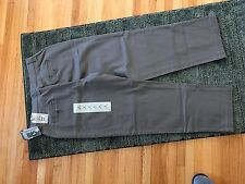 NWT Lee Womens Relaxed Fit Plain Front Straight Leg Pants Olive Khaki 6P STRETCH