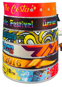 50 Personalised Fabric Wristbands - Your wristband/your design (Fast Turnaround)