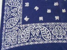 15X17 BLUE Vtg Antique GUARANTEED FAST COLOR Cotton BANDANA small HANDKERCHIEF