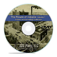 Indiana IN Vol 1 People & Civil War History and Genealogy 101 Books DVD CD B36