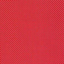 Tela De Algodón Puntos Mini Ø 1mm Rojo Blanco