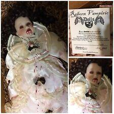 Puppen Spielzeug art doll ooak creepy cute baby antique porcelain cup sitter Künstlerpuppen