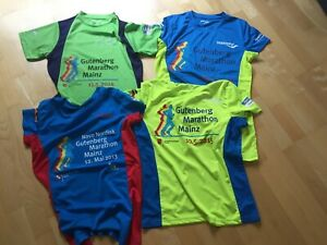 4 Gutenberg Marathon Mainz 2013 2014 2015 2016 Running Finisher Shirt Größe M