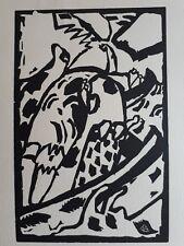 Wassily Kandinsky, Woodcut, Improvisation Klange 7