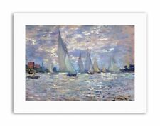 Claude Monet les Barques Poster Peinture Vieux maître Toile Art Prints