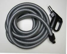 30' Dual Voltage Electric Hose Silver/Black M&S V610Ps Central Vac