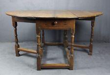 GROSSER EINZIGARTIGER BAROCK TISCH GATE LEG TABLE OAK WOOD ENGLAND UM 1770