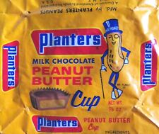 New ListingRare Vintage 1950s Planters Mr Peanut Butter Cup Candy Bar Wax Paper Wrapper