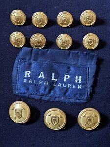 Ralph Lauren POLO Waterbury set 11 Gold Blazer Suit Jacket Replacement Buttons