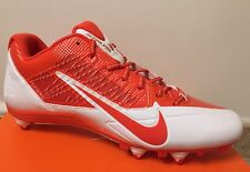 $100 NEW NIKE Alpha Pro Low D Football Cleats Shoes Orange White US 13.5