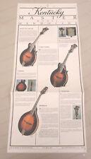 Original Vintage KENTUCKY MASTER MODEL MANDOLINS poster brochure KM1000, 1500