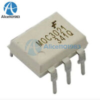 10Pcs Fairchild MOC3021 Random-Phase Optoisolators Triac Driver Output DIP-6