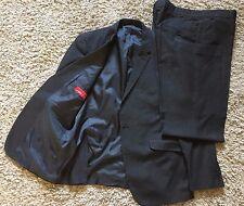 """Traje de carbón 2 piezas traje directo esencial 42""""R 36""""R Chaqueta Pantalones"""