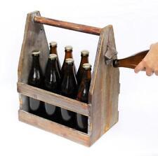 Bierträger mit Flaschenöffner 5087 Bierkiste aus Holz 38 cm Flaschenträger