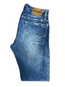 Original Tommy Hilfiger Ronnie Tapered Slim Fit Blue Denim Jeans W31 L34 ES 8205