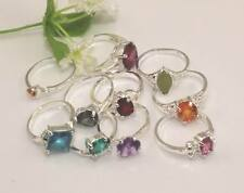wholesale 10pcs Thick  925 Silver mixed cz rings 6-9 Y-27