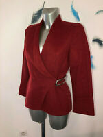luxueuse veste hiver en cachemire rouge THIERRY MUGLER taille 38 fr (M)