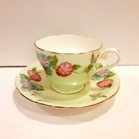 AYNSLEY England Bone China Floral Tea Cup & Saucer