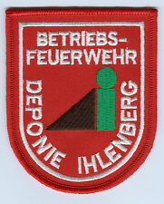 Aufnäher Patch Betriebsfeuerwehr Deponie Ihlenberg ( Selmsdorf ) Mecklenburg MV
