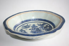 Antique 18th Century Chinese Porcelain Blue and White Large Bowl