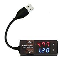 X-dragon doppio USB Digital Tester Detector Multimetro Monitor di (s8m)