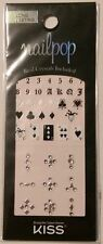 Kiss Nails Nailpop Jewel Crystal Nail Stickers -  DMT 117 Cards & Black & White