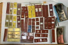 C206- Mixed Lot Of Brass HO Scale Boxcar Parts