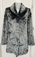BNWOT New Country Casuals Grey Short Faux Fur Warm Winter Coat Jacket Fits 10/12