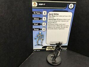 Star Wars Miniatures ASP-7 Universe UH w/ Card mini RPG Legion Assault